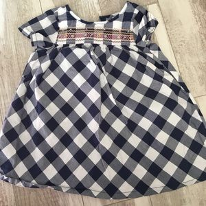 Checkered baby girl dress
